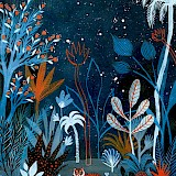Elsa Klever, Night with tiger, Small: 24 x 32 cm, Big: 32 x 45 cm, Artprint, 65€ / 79€